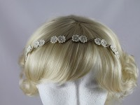  Ivory Flowers Aliceband